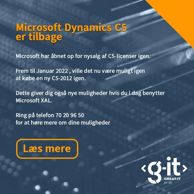 Microsoft Dynamics C5 er tilbage